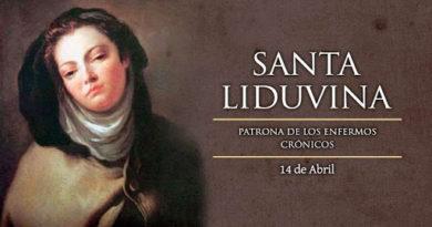 Hoy conmemoramos a la Santa Liduvina Patrona de los enfermos crónicos